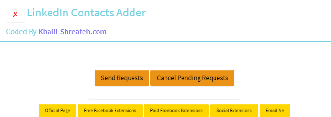 Linkedin Contacts Adder