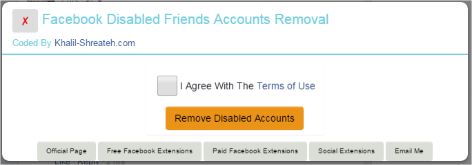 Facebook Disabled Accounts Removal - Chrome Extension