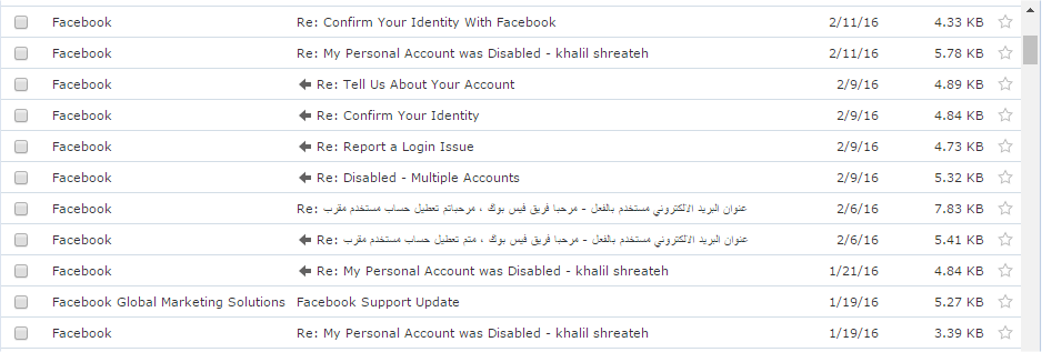 Facebook Disabled Account Messages