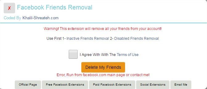Facebook Friends Removal - Chrome Extension