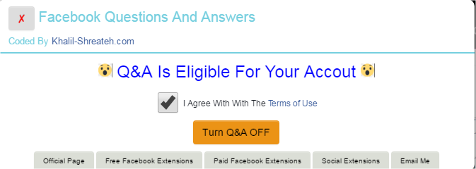 Facebook Questions and Answers (Q&A) for Profiles & Pages