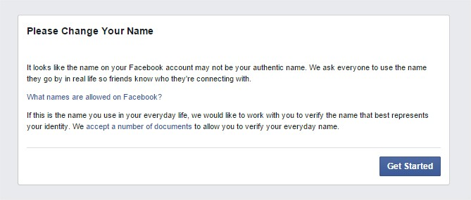 Facebook Change Your Name