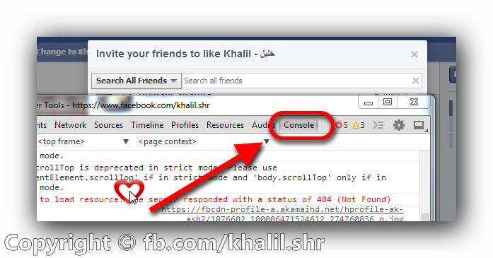 Code Invite All Of Your Friends To Like Your Page At Once 2014