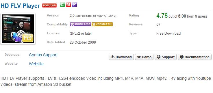 Joomla HD FLV Player SQL Injection Vulnerability